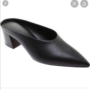 NEW | Vince Ralston Black Low Heeled Pointed Mules